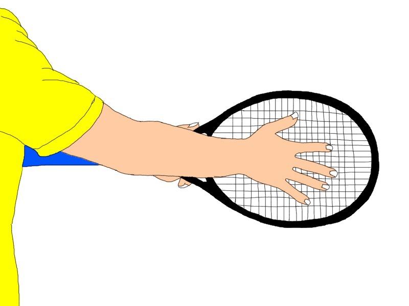 テニスのイースタングリップの握り方