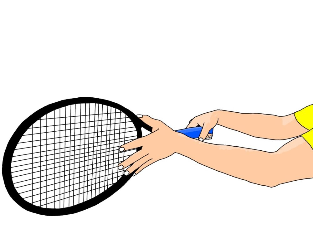 テニスの両手打ちバックハンドストロークの握り方