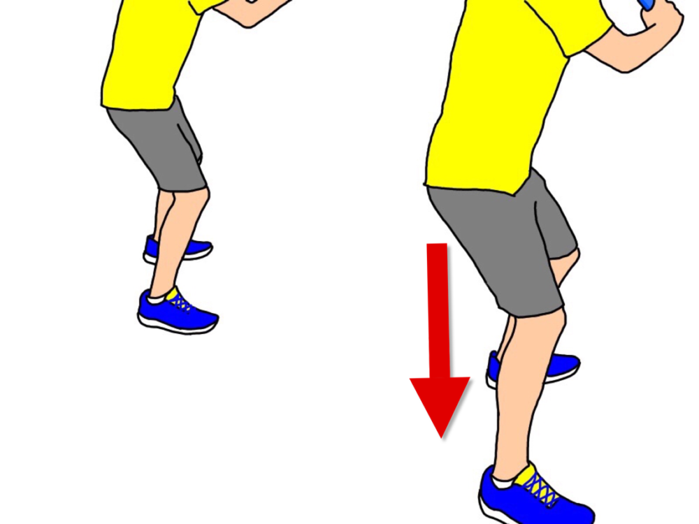 テニスでサイドステップを使って前進する