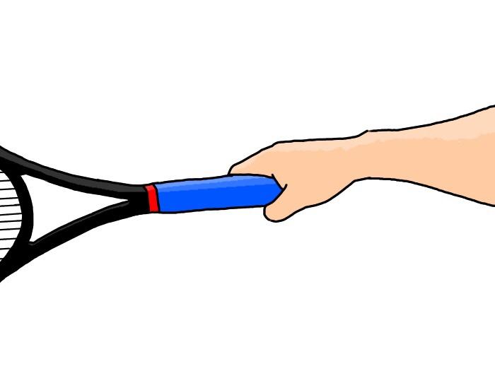 バックハンドイースタングリップの握り方