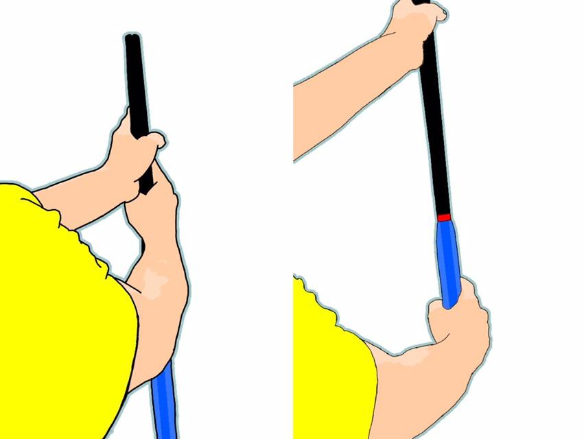 テニスの両手打ちバックボレーのグリップの握り方