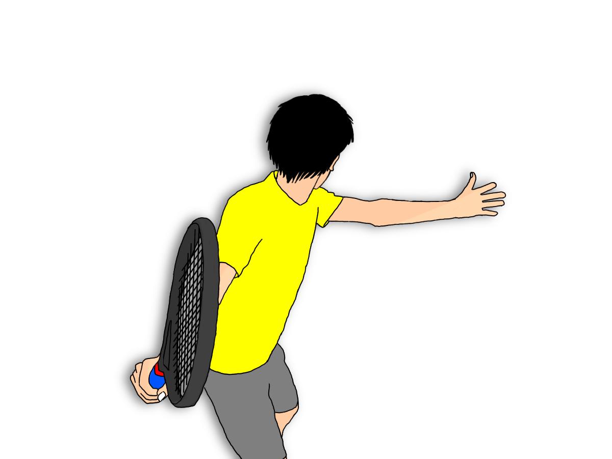 テニスのフォアハンドストロークでラケットを立てる意味を考える
