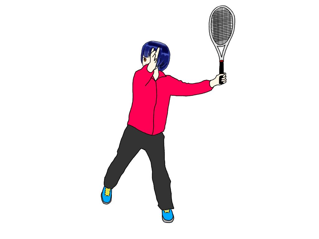 テニスのドライブボレー(スイングボレー)を練習すると高い打点で打てるようになる