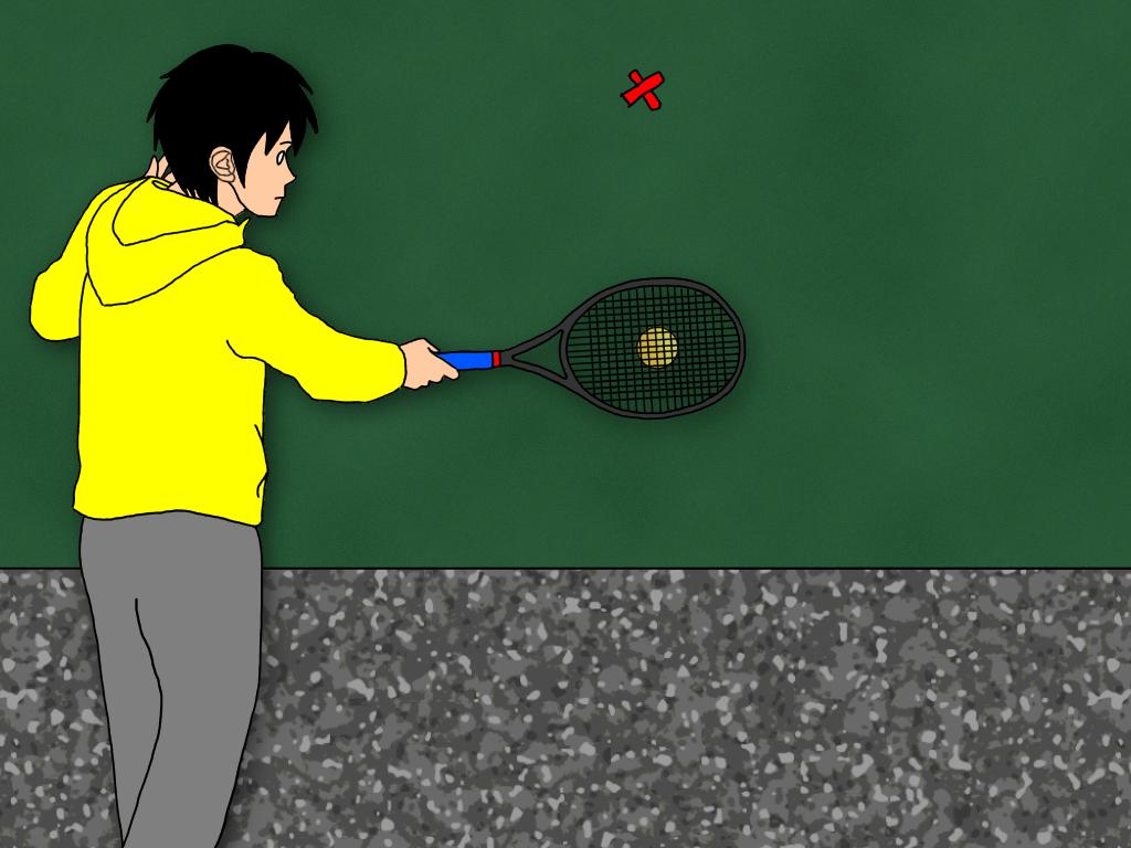 テニスの壁打ち練習をするときに意識したい【ターゲット】