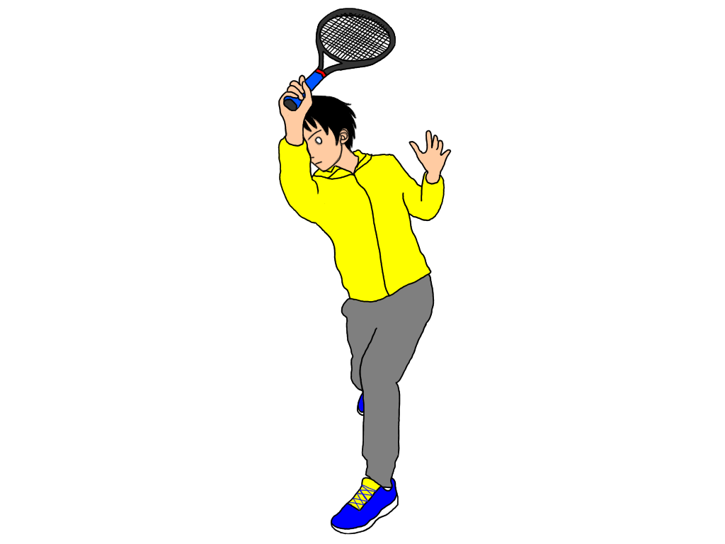 テニスの試合でスライスが来たら気をつけること