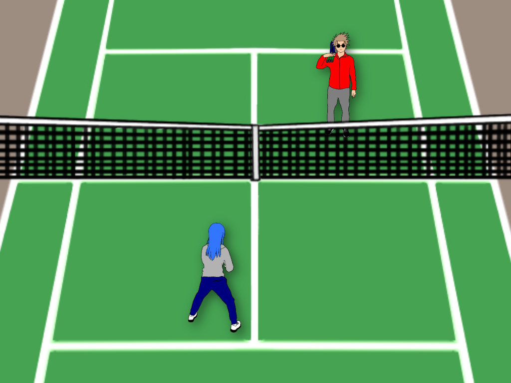 テニスの雁行陣の前衛はどう動く?