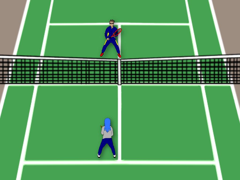 テニスのストレート雁行陣の前衛はどう動く?