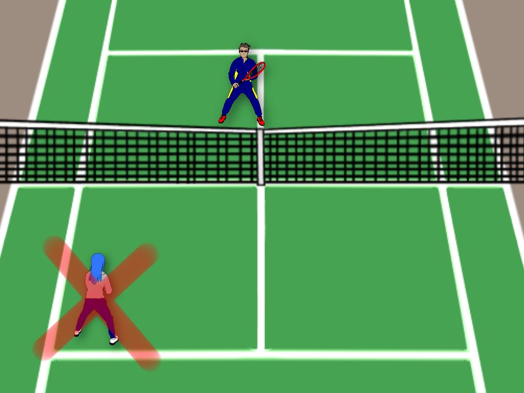 テニスのストレート雁行陣でありがちな悪い例