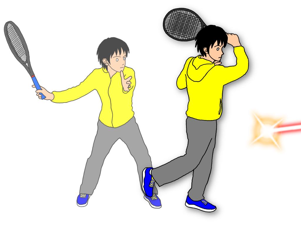テニスの試合で浅いボールとの距離をとる方法