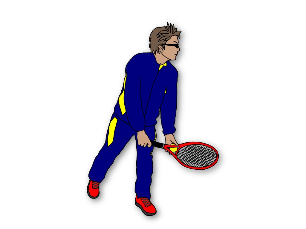 テニスのサーブの体重移動は大きく分けて2種類