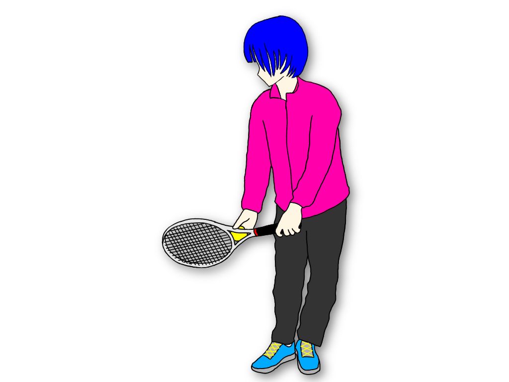 テニスのサーブでスタンスの広さを構えとトロフィーポーズで考える