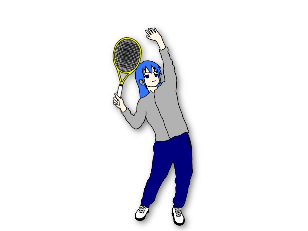 テニスのサーブのテイクバックは大きく分けると3種類