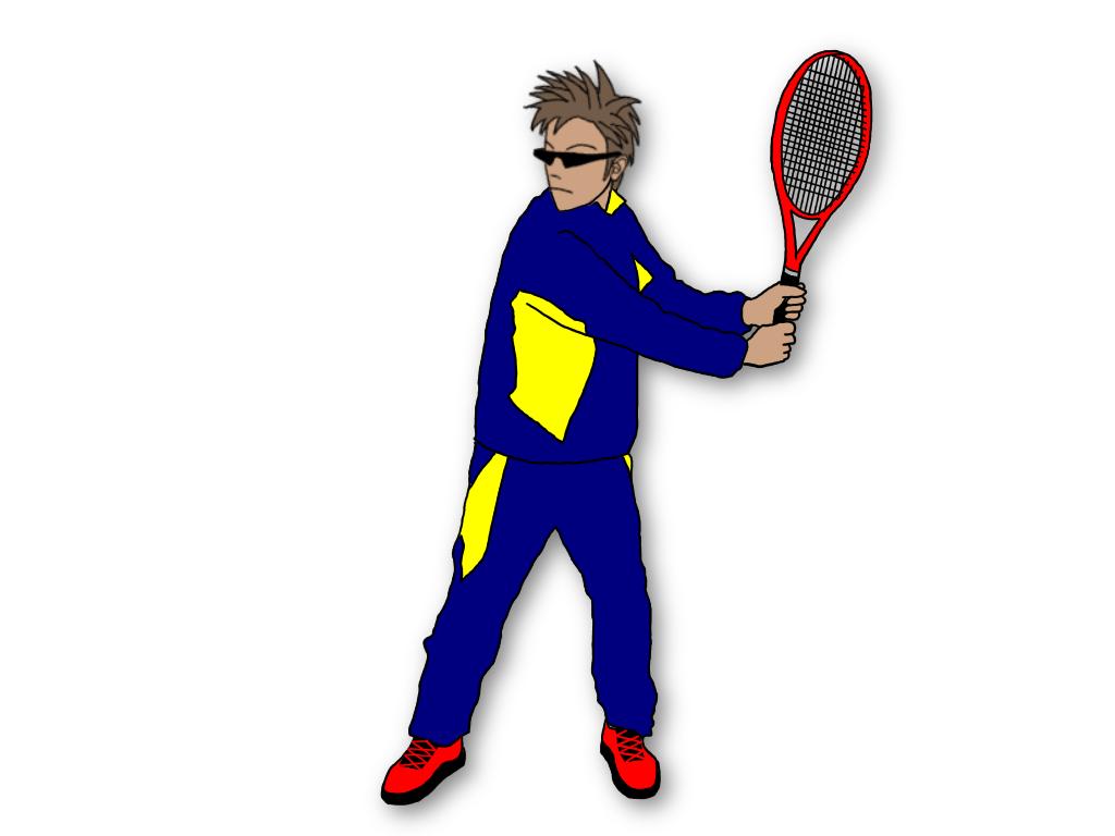テニスのグランドストロークで、テイクバックを2段階に分けて覚える