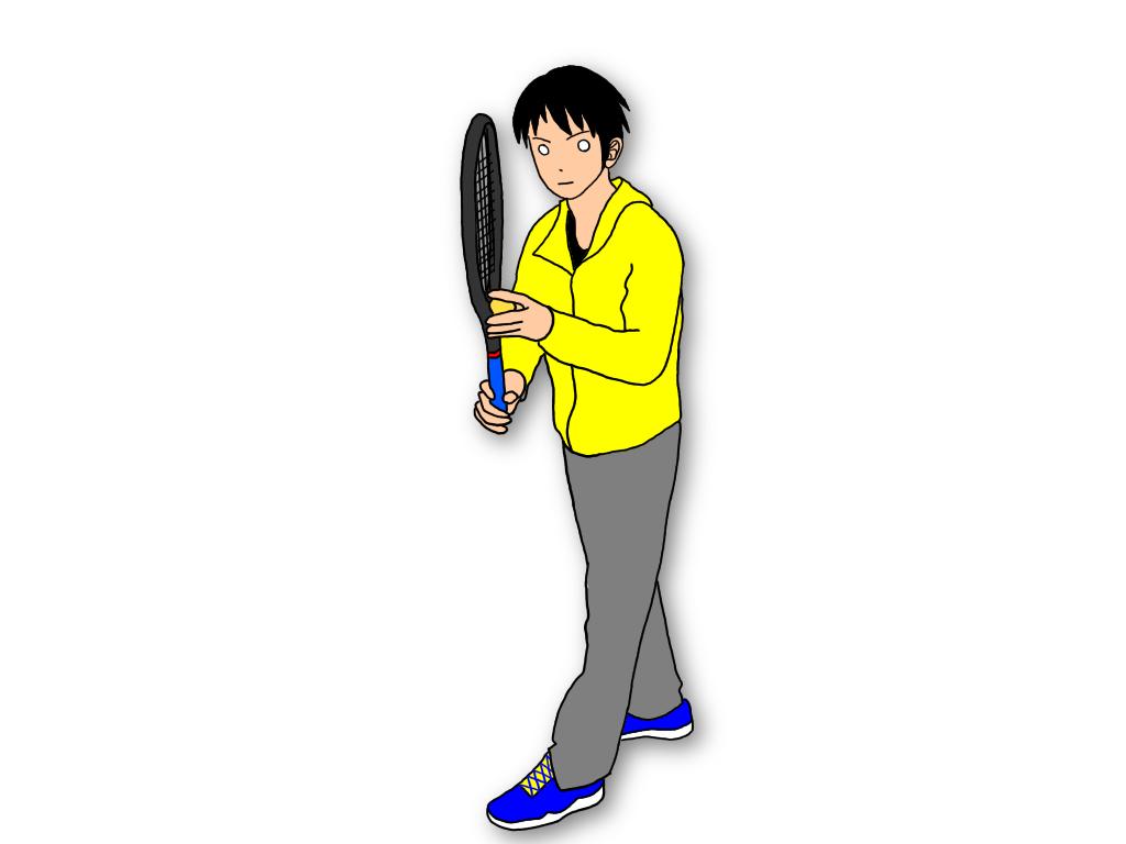 テニスのサーブの構えはラケットをどうしたいかで変わる