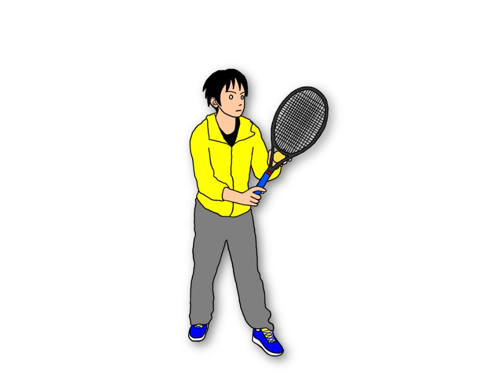 テニスのサーブの構えはテイクバックを巻き戻してみるのがオススメ