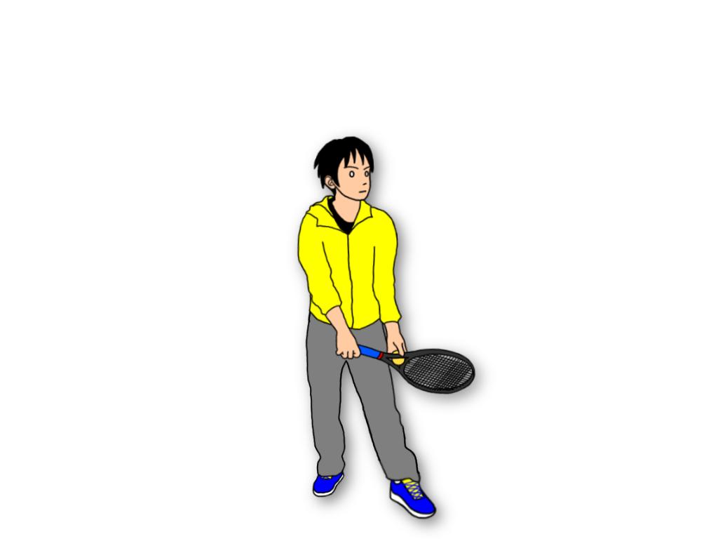 【自宅でできるテニスの練習】両膝をついてサーブのトスアップ練習の欠点