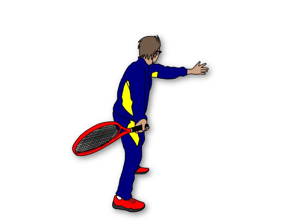 テニスのグランドストロークでラケットダウンすると正しいスイングが覚えられる