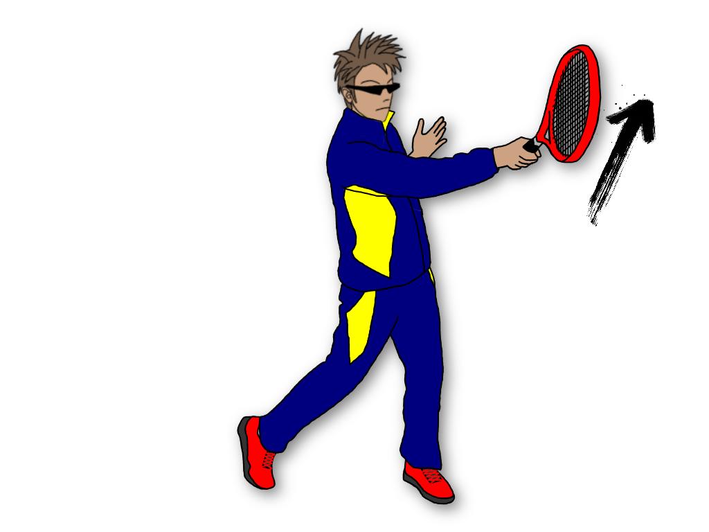 テニスのグランドストロークでラケットダウンするとボールにトップスピンがかかる