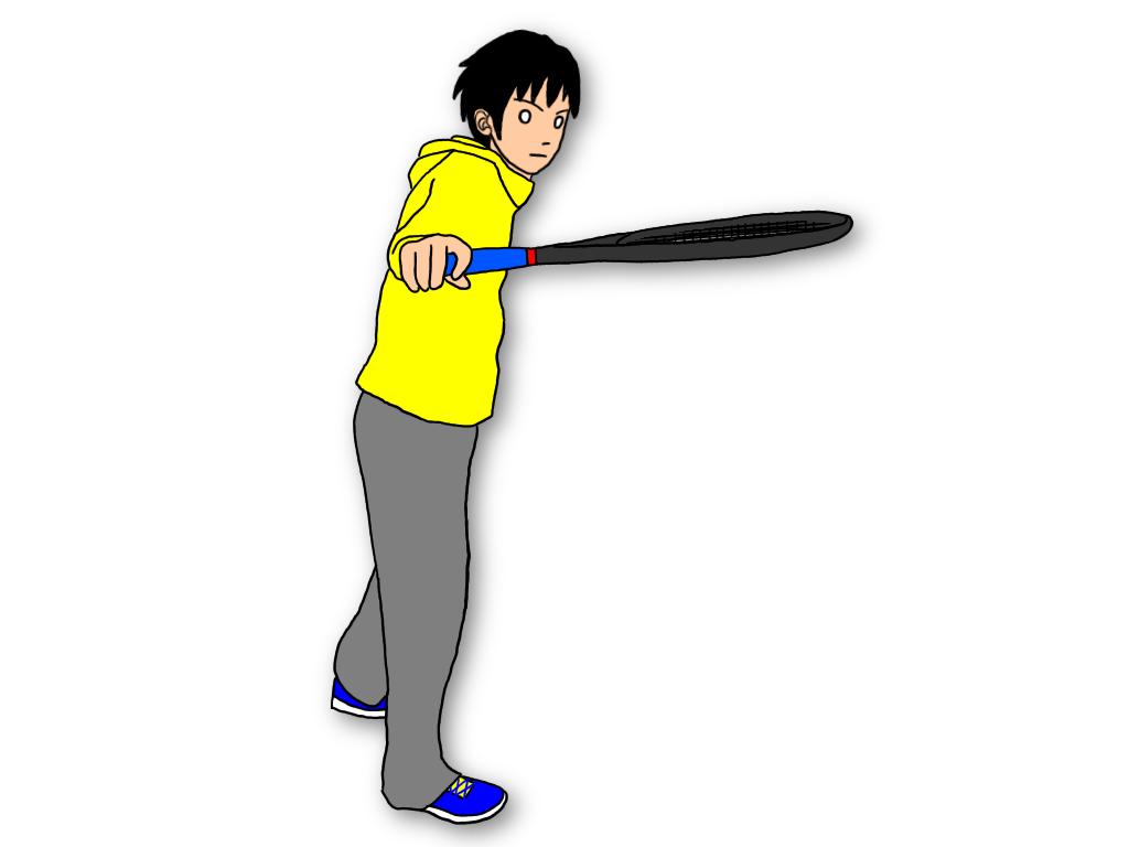 テニスのボレーで深くボールを打ちたければ、スライスでスイングを覚えよう!
