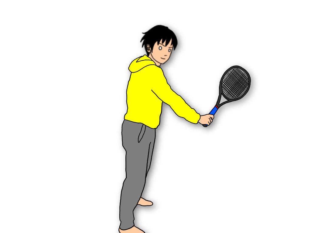 テニスでインサイドアウトとアウトサイドインのスイングを使い分ける