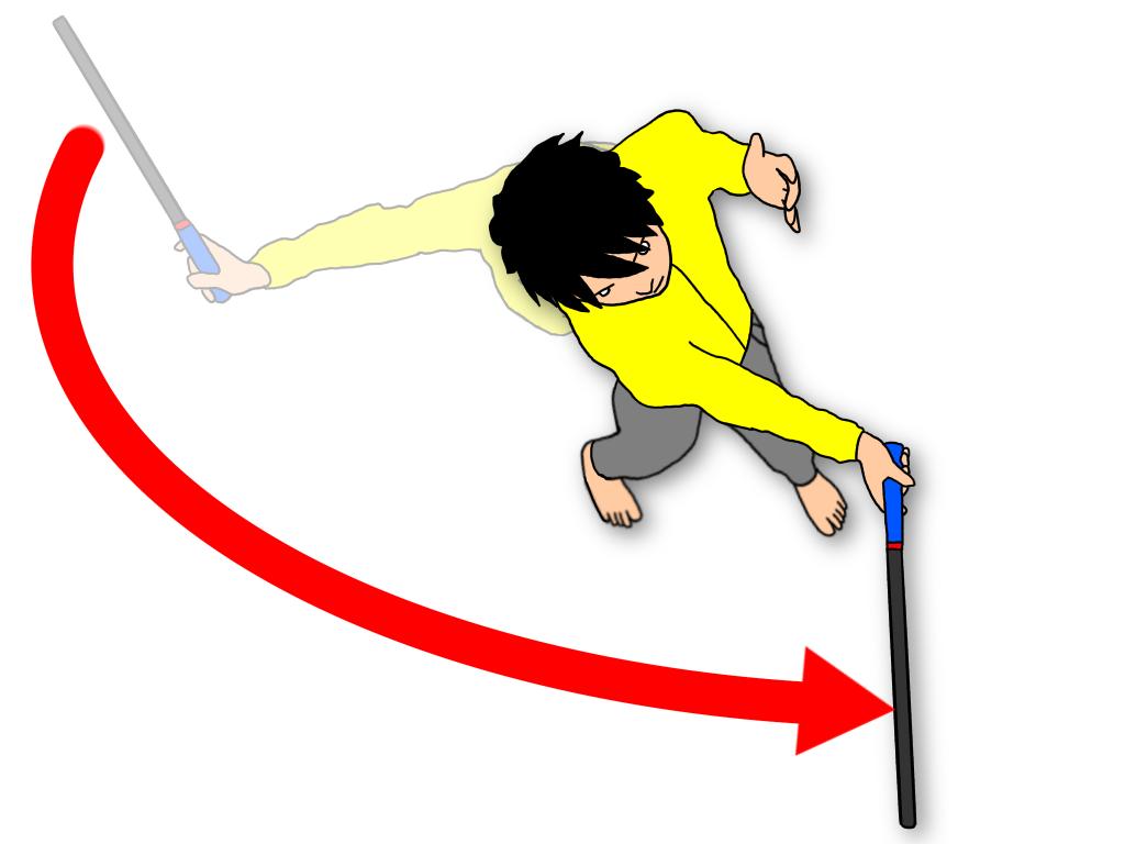 グランドストロークをインサイドアウトにスイングする方法