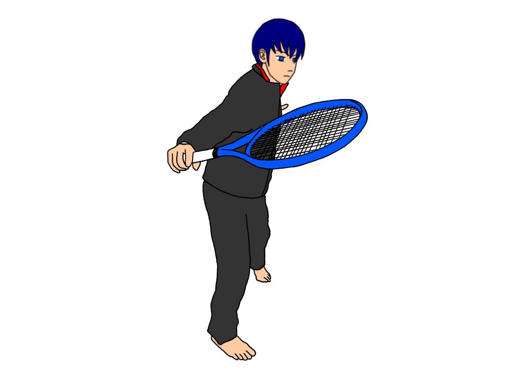 ボレーで左右の肩甲骨を同じように動かす効果