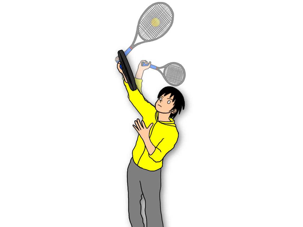 テニスの壁打ち練習をするときに意識したい【ボールの当て方】