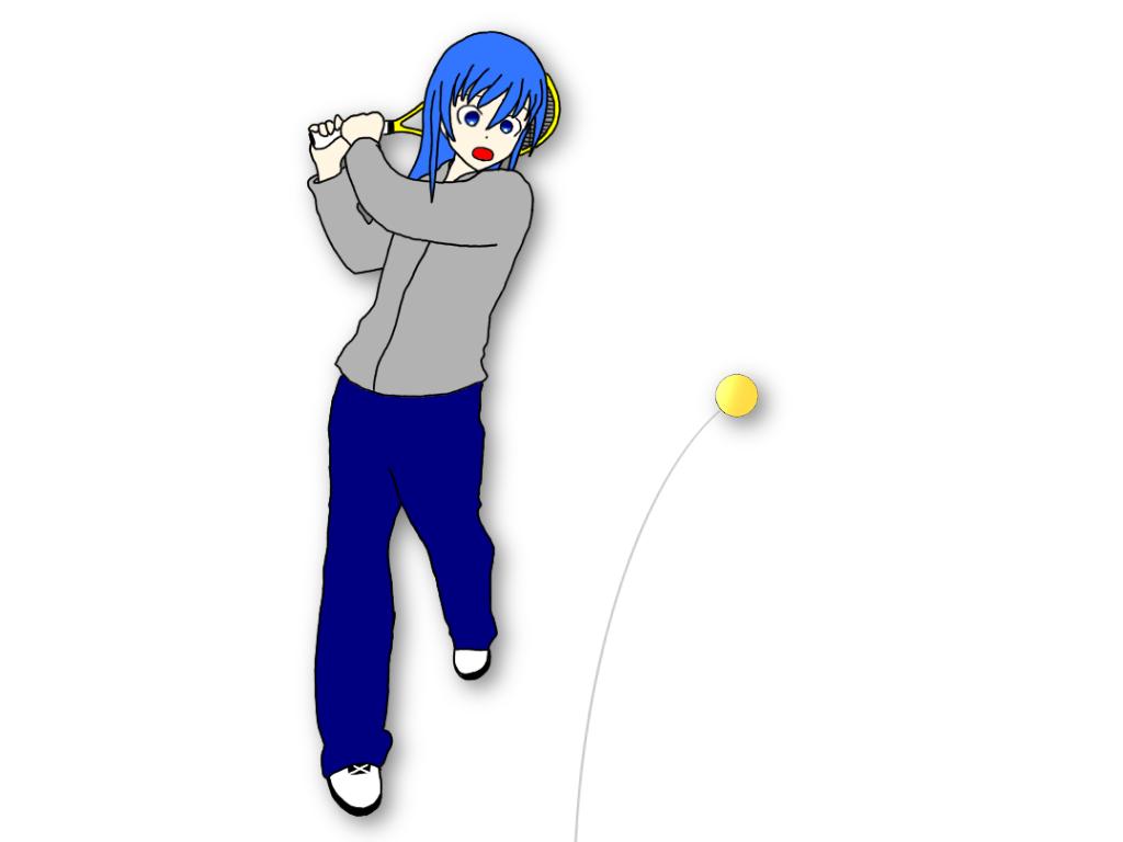 「早いタイミングでハンドトスしたテニスボールを連続で打つ」ドリルの効果は?