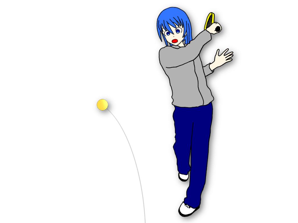 「早いタイミングでハンドトスしたテニスボールを連続で打つ」ドリルのやり方