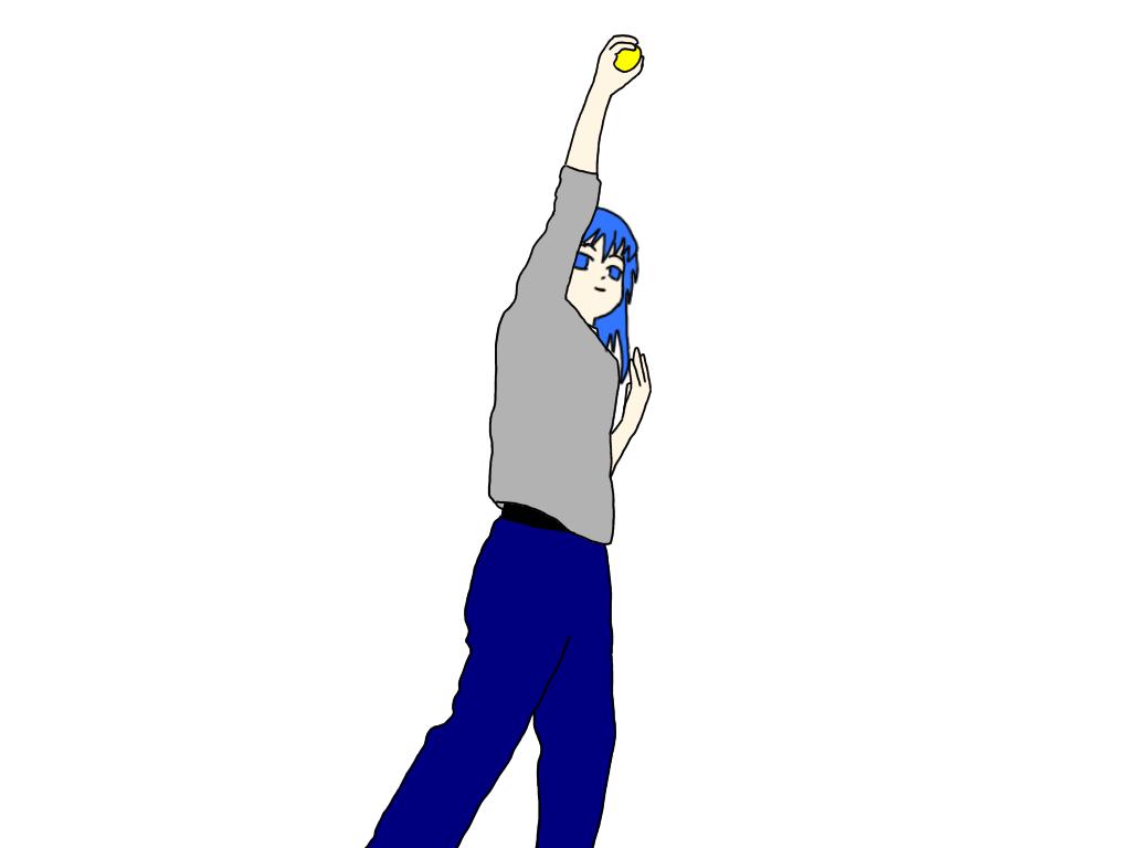 トスアップしたテニスボールを素手でキャッチするドリルのやり方