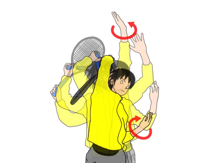 「壁に沿って肘で弧を描くドリル」でどんな練習ができるか