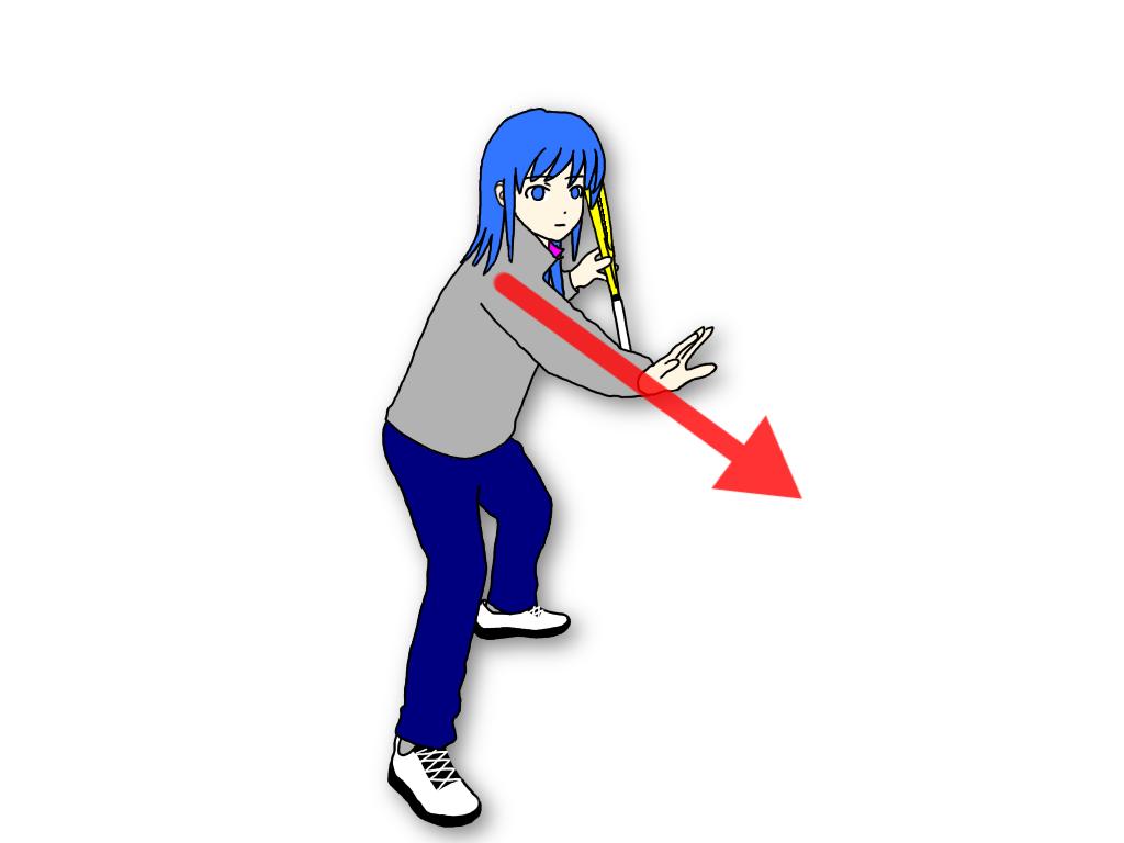 「打点に出した手でボールをキャッチしてから打つドリル」のやり方