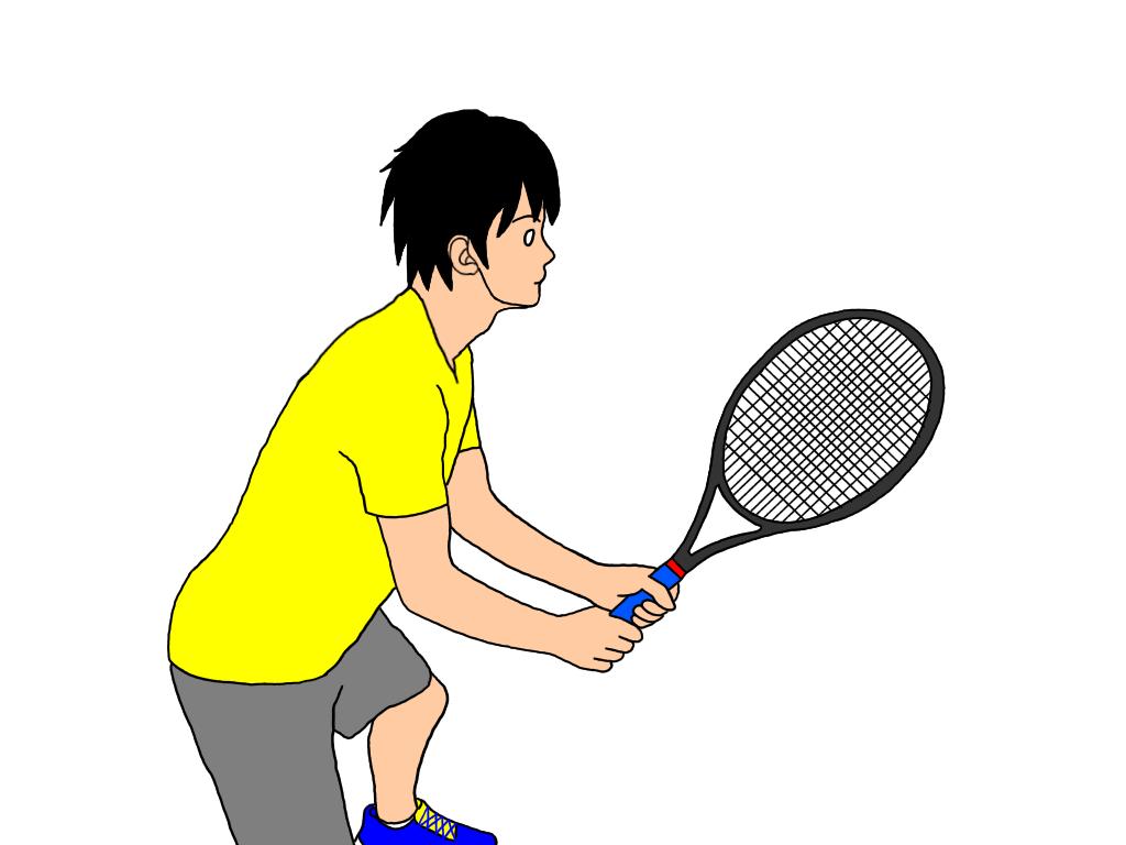 【ネットプレーでのラケットの構え方】バックハンドボレーが両手打ちの場合