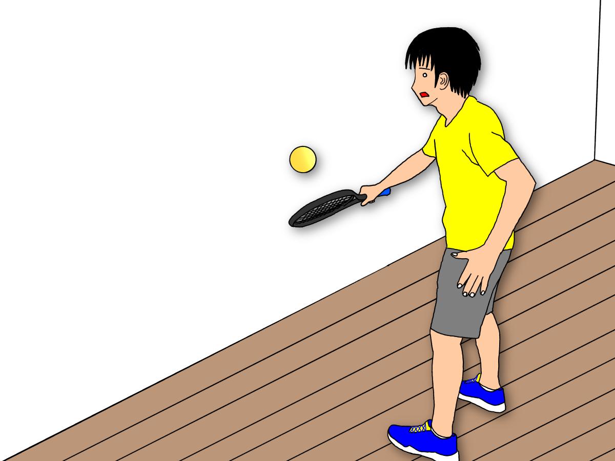 【自宅でできるテニスの練習】壁を使ってフォアボレーよりバックボレーを鍛えよう!