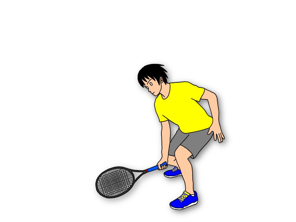 テニスのハーフボレーの基本練習【ラケットの用意】【ボールのバウンド地点に入る】