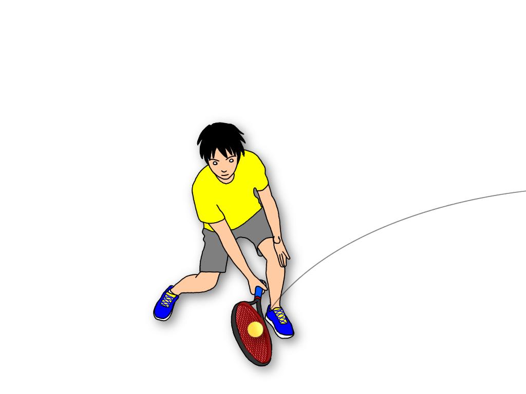 テニスのハーフボレーの打ち方