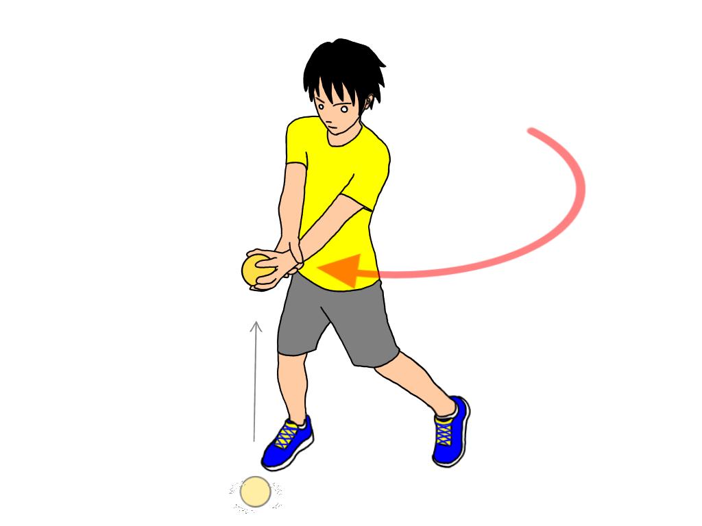 【トップ打ち練習法その1】ボールのトップでハンドキャッチ