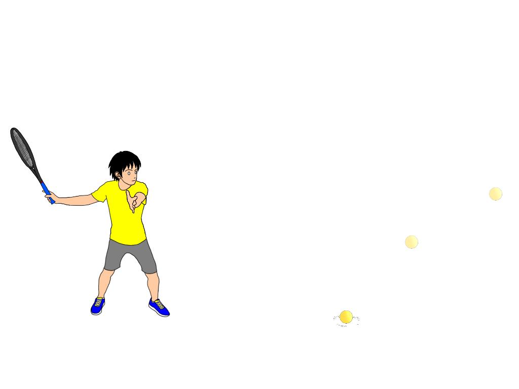 ボールのトップでとらえる練習における共通の注意点