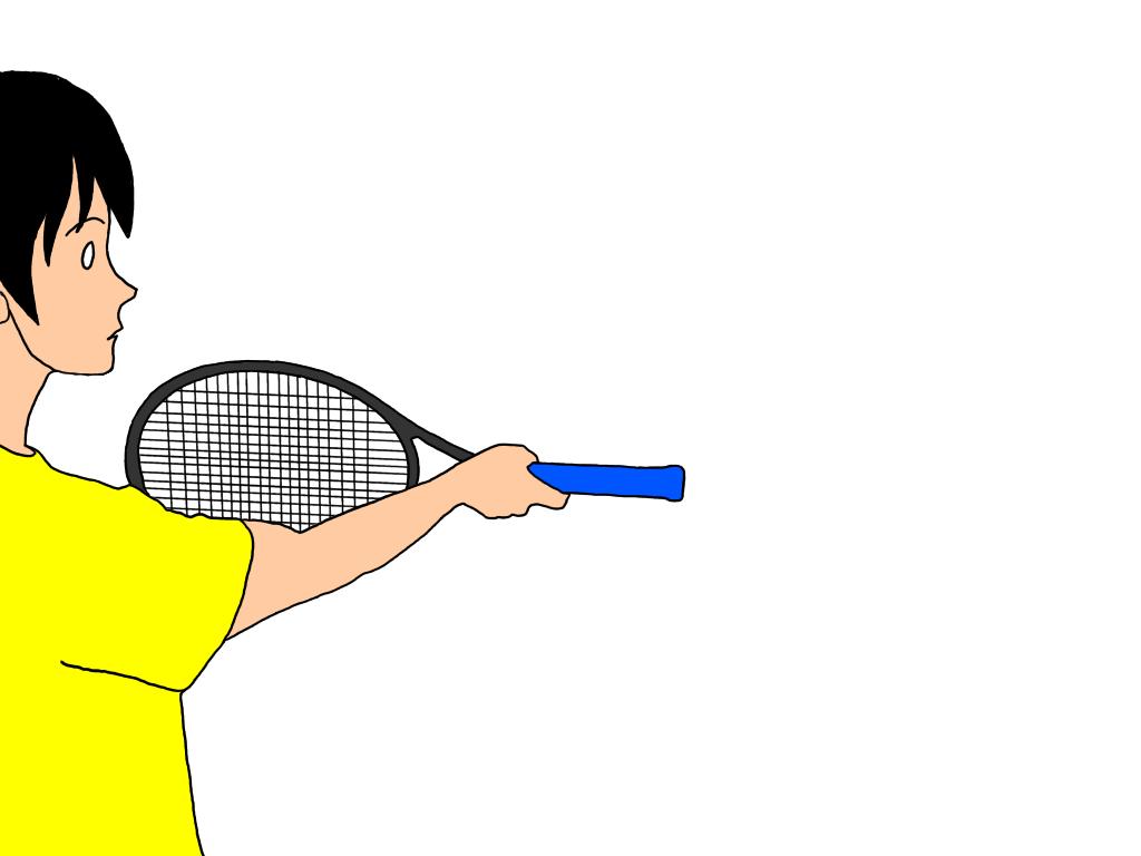 【トップ打ち練習法その2】ラケットを逆さまで持ち、グリップでボールを打つ