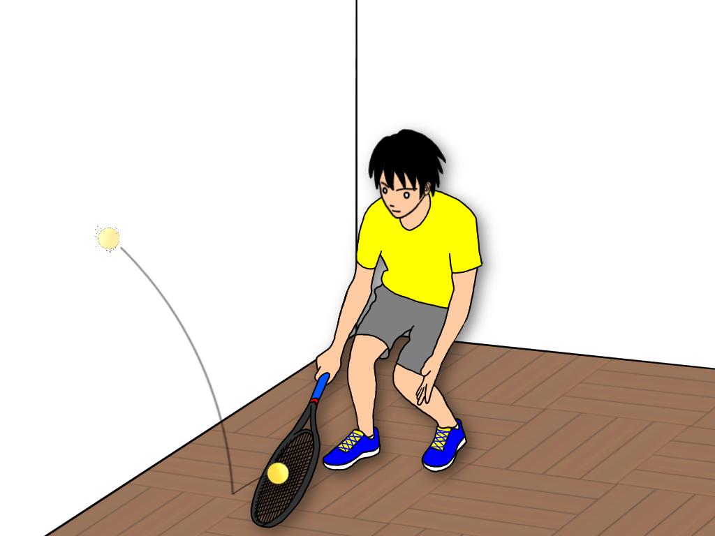 テニスのハーフボレーの練習【トトンのタイミングに慣れる】