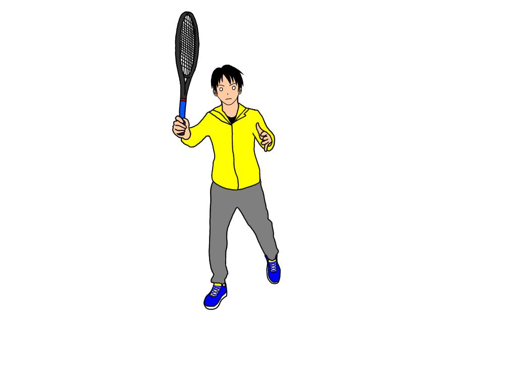 テニスのアングルボレーの打ち方
