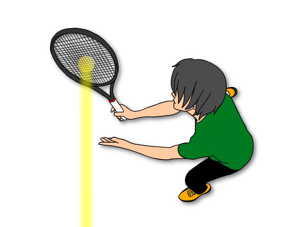 テニスのアングルボレーからストレートに打つボレーを磨く